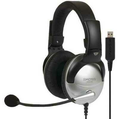 KOSS(R) 178203 SB45 USB Full-Size Over-Ear Communication Headset
