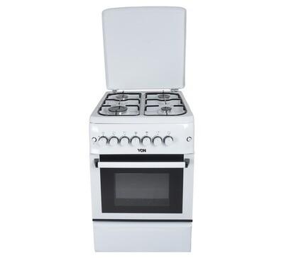 Von F5N40G2.P.W/ F5S40G2.W/ VAC5F140PW 4 Gas Cooker - White