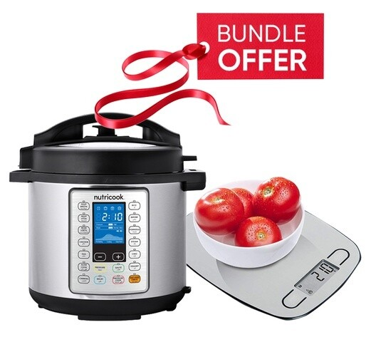 Nutricook NC-SPPR6 Prime Smart Pot Pressure Cooker - 6L GET FREE Nutricook NC-KSE5 EKO Kitchen Weigh Scale