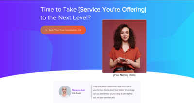Consultation Call Landing Page