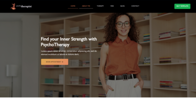 Psychotherapy Wix Website Template