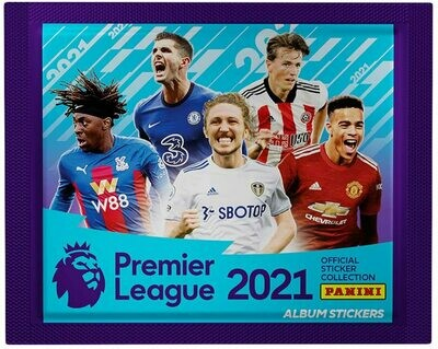 5 x Premier League 2021 Sticker Collection Packs