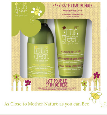 Baby Bathtime Bundle  Mild, tear-free head to toe Shampoo & Body Wash + Nourishing Body Lotion. All natural, soft baby fragrance is exactly how mom wants her baby to smell.