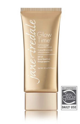 Jane Iredale Glow Time Full Coverage Mineral BB Cream Broad Spectrum SPF25 BB5 Light to Medium with Yellow Undertones Like Amber 50ml
