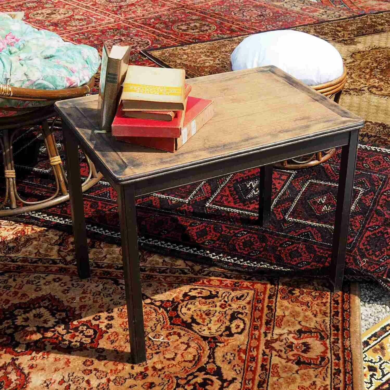 Table basse bois pieds noirs