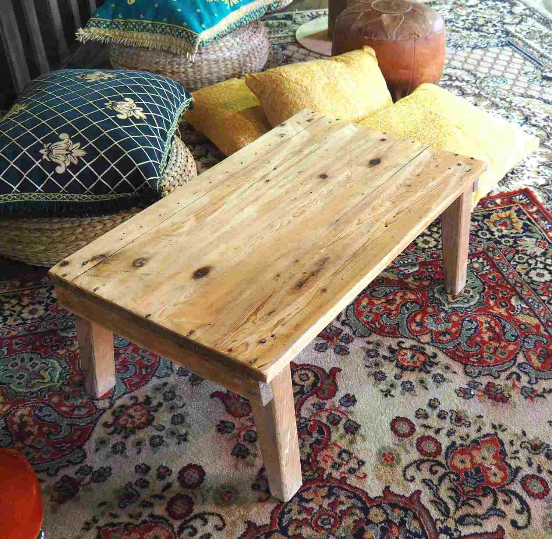 Table basse bois pin