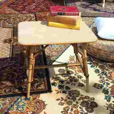 Table basse rotin rectangulaire petite