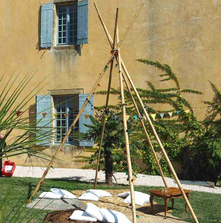 Tipi en bambou