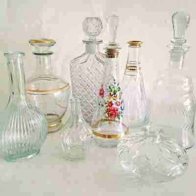Carafe verre vintage avec bouchon