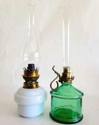Lampe à huile bleue