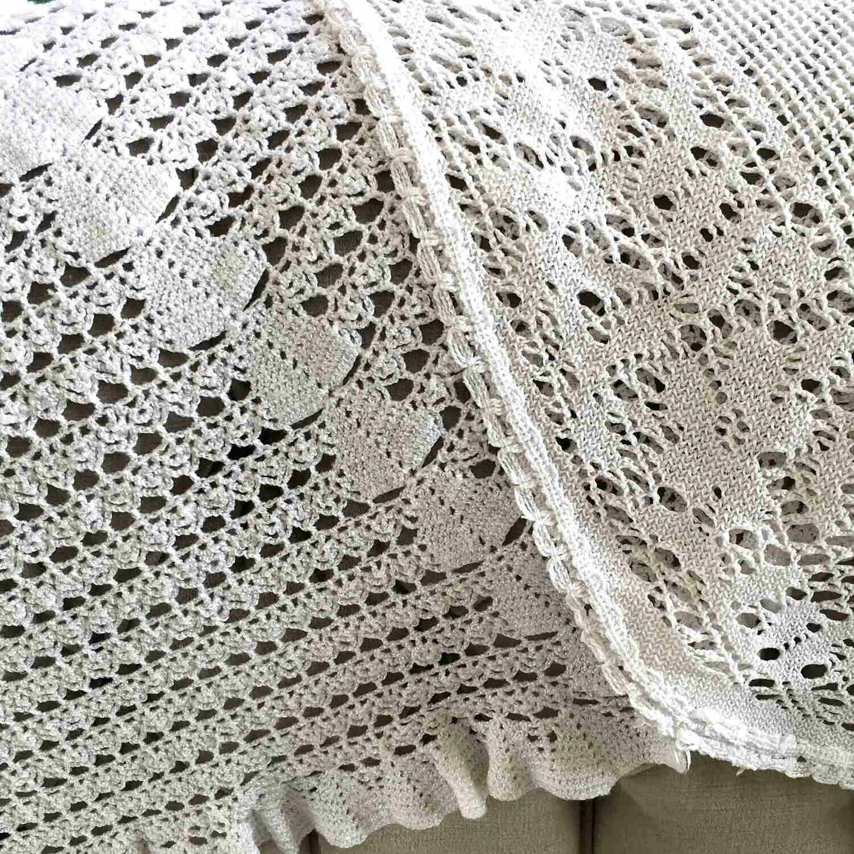 Nappe crochet ovale