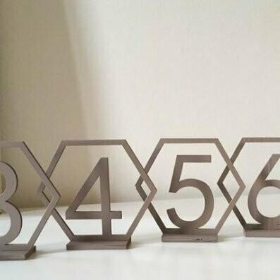 Numéro de table octogonal