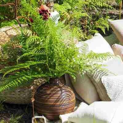 Vase boule bois
