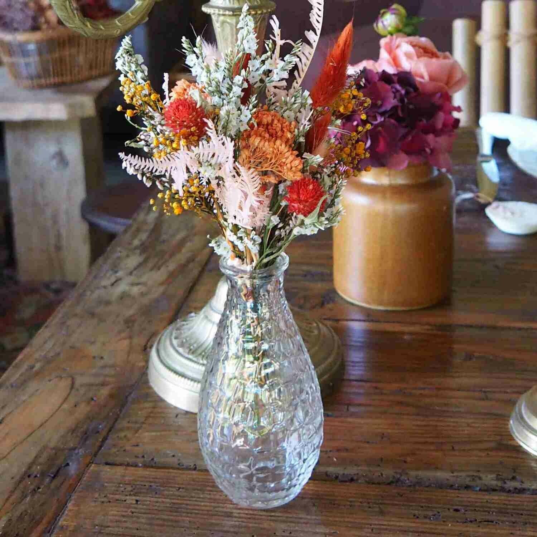 Vase verre bouteille petit
