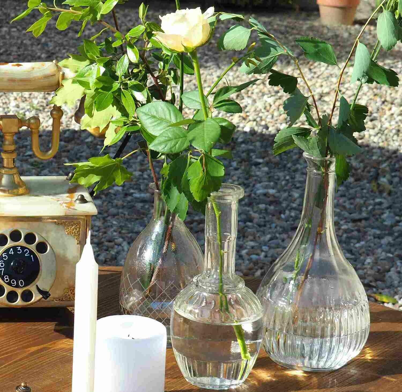 Vase verre bouteille flacon