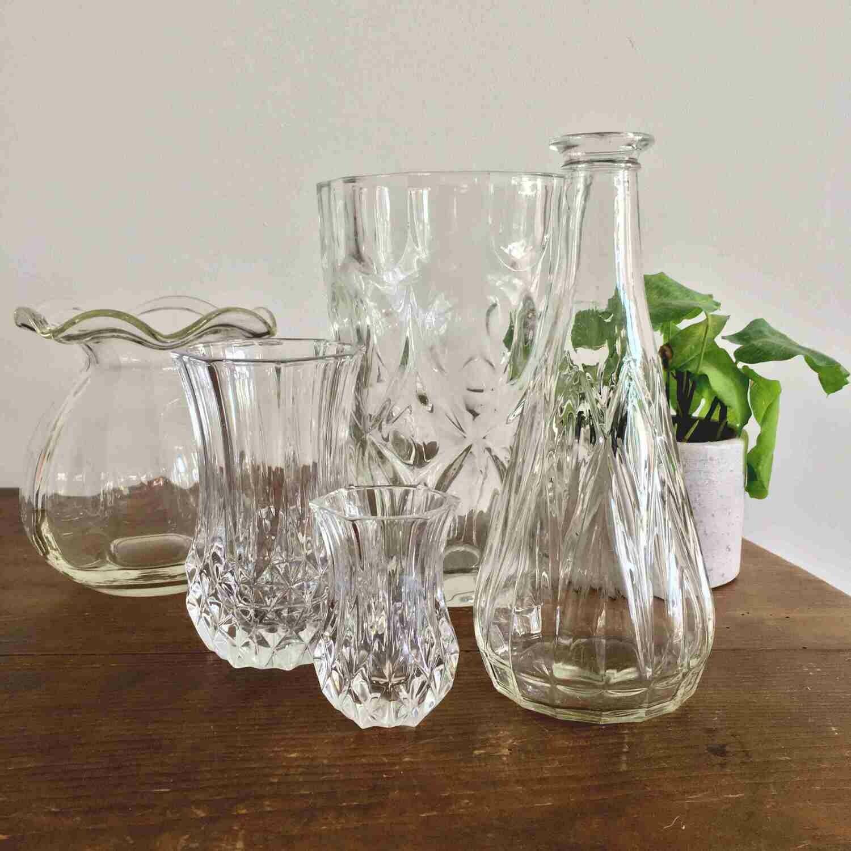 Vase verre ciselé petit