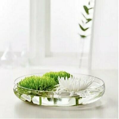 Vase verre plat
