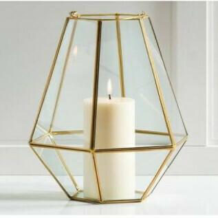 Lanterne laiton géométrique