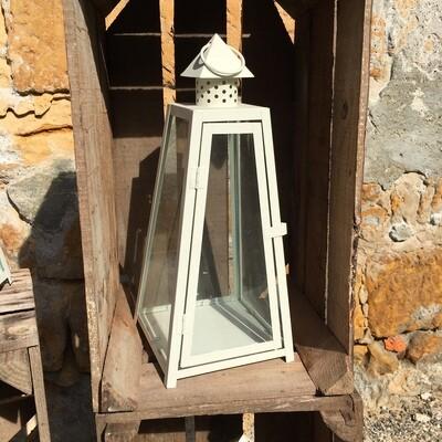 Lanterne métal blanche