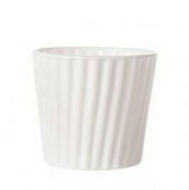 Photophore verre blanc bulle