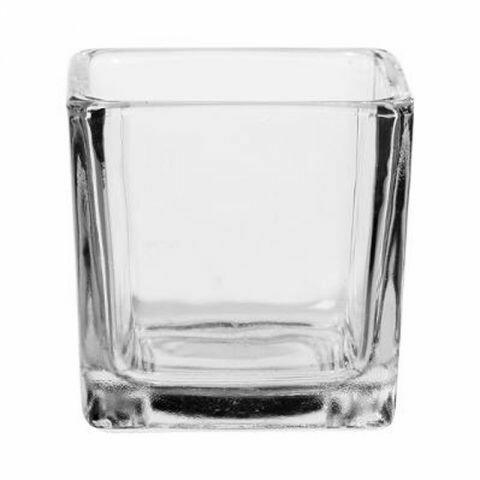 Photophore verre carré