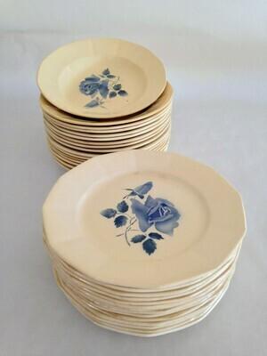 Assiette porcelaine bleue dessert