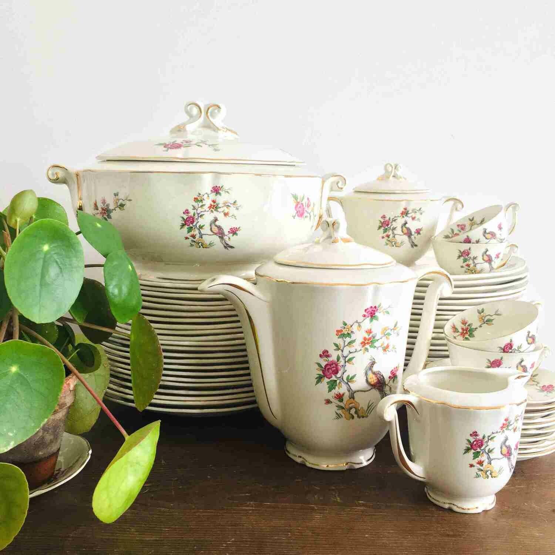 Soupière porcelaine fleurie