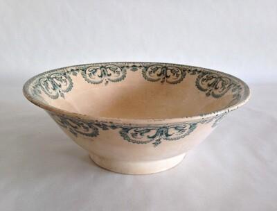 Saladier porcelaine bleu