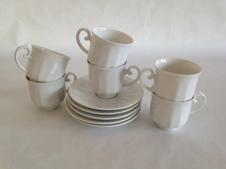 Tasse à café porcelaine blanche