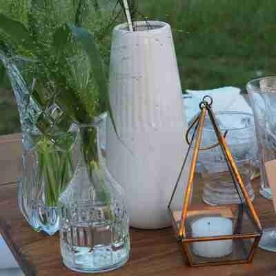 Vase céramique blanc petit