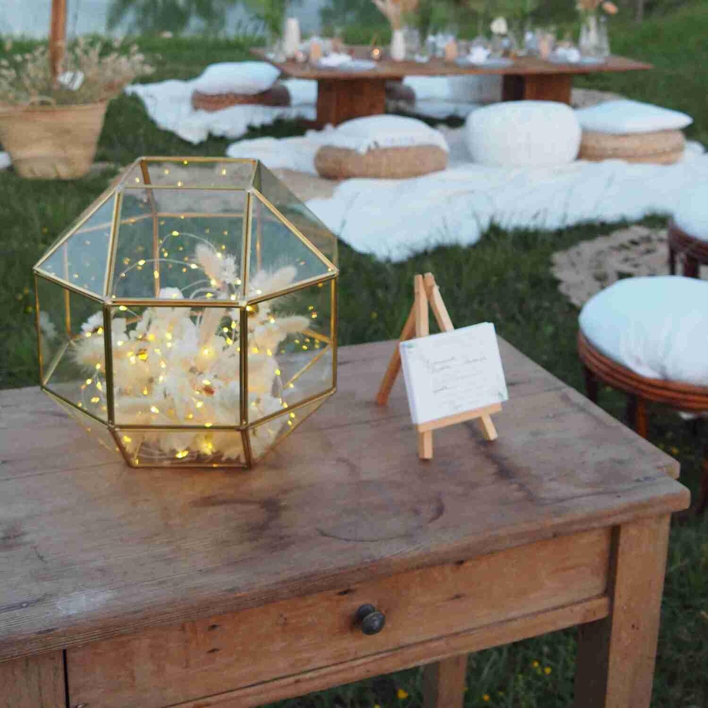 Lanterne laiton octogonale