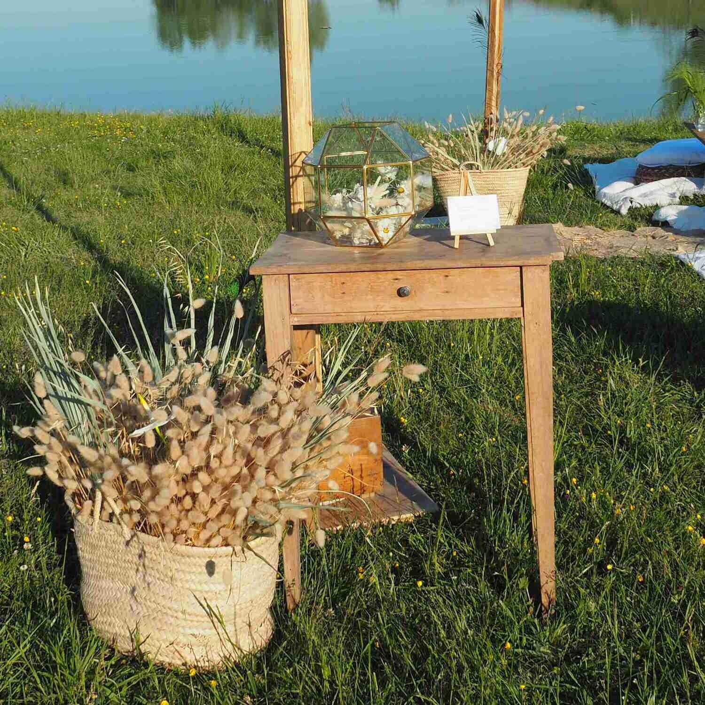 Table console avec tiroir bois