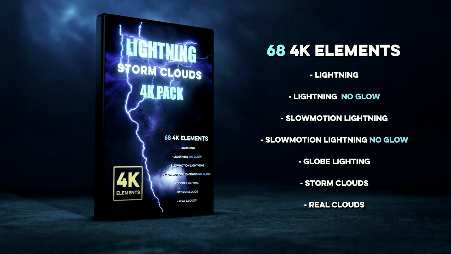 Lightning Storm Clouds 4K