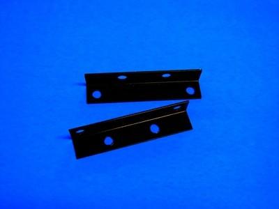 2 Black Angle Iron Mounting Brackets