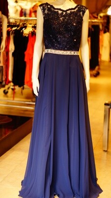 Mother of the Bride--Navy Blue--Champagne