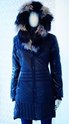 Black Oxygen Real Fur Winter Jacket