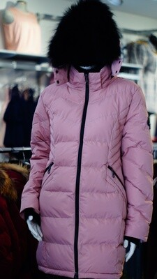Pink Oxygen real fur winter Jacket
