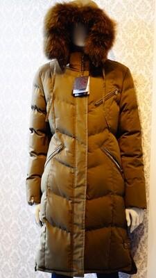 Khaki Green Real Fur Oxygen winter Jacket