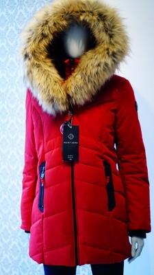 Point Zero winter jacket Ruby red