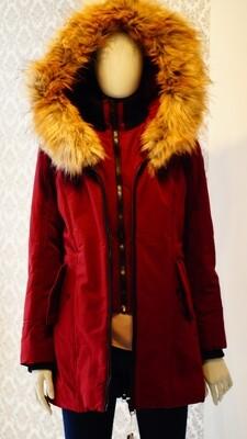 Burgundy Point Zero winter Jacket