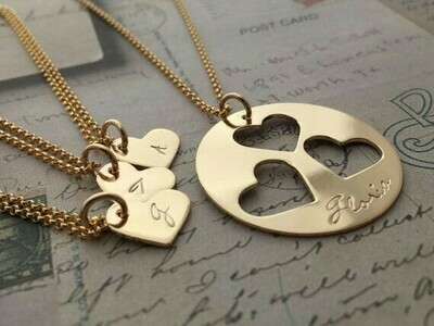 "Collar ""Heart puzzle"""