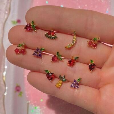 Aretes multicolores