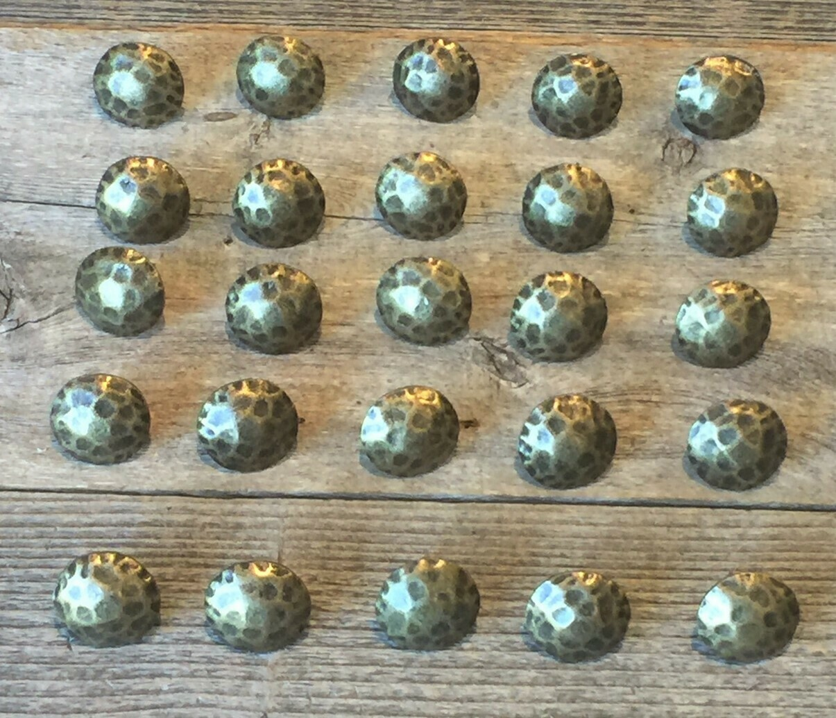 Clavos Decorative Nail Heads Rustic Worn Brass Finish 1