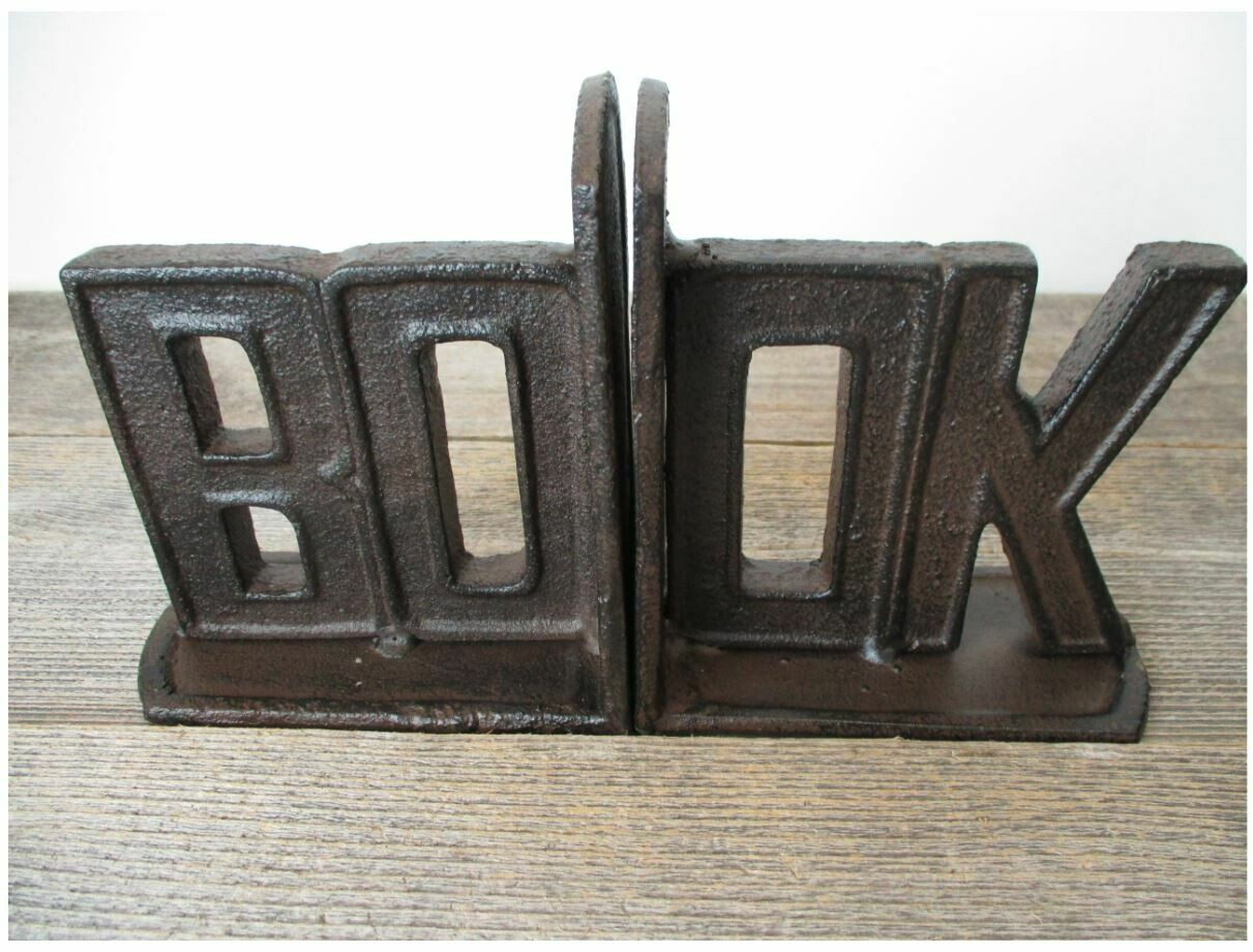 CAST IRON BOOKENDS SETS READ