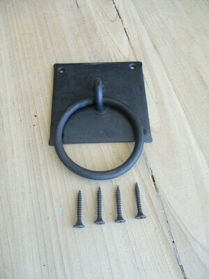 Hand Forged Iron Chest Handles / Bin Drawer Pulls 3 1/8