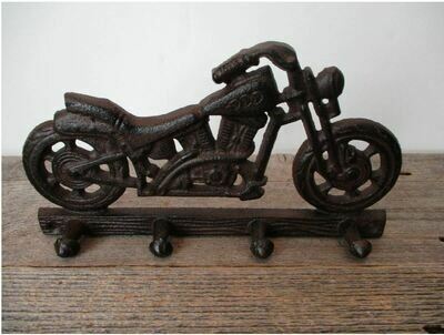 CAST IRON MOTORCYCLE WALL HOOK