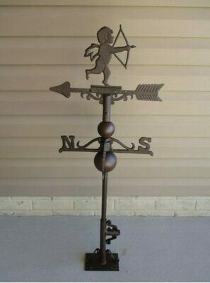 CAST IRON CUPID / ANGEL WEATHERVANE!