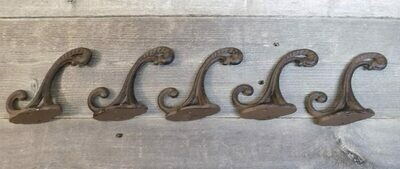 Cast Iron Rustic Vine Double Hooks