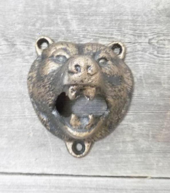 Wall Mount Grizzly Bear Bottle Opener