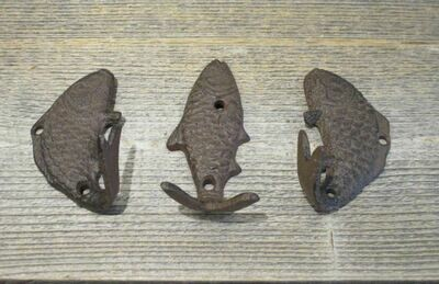 FISH COAT HOOKS (EACH SALE INCLUDES 3 HOOKS)